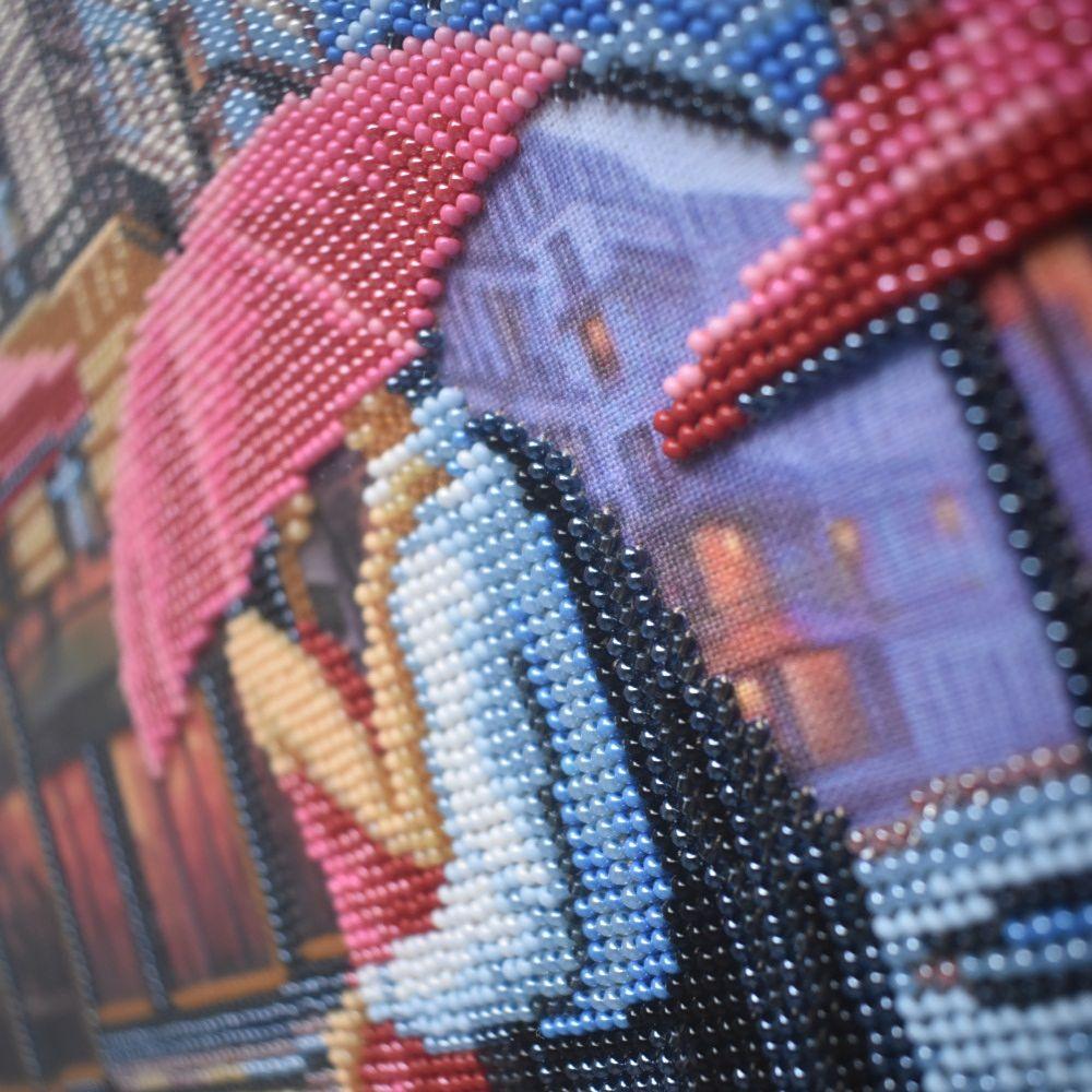 вышивка картины Париж бисером