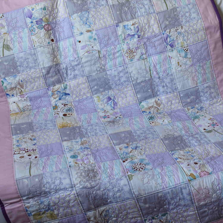 детское одеяло из кусочков